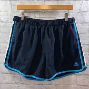Adidas Marathon Workout Shorts • Sz L Navy Blue